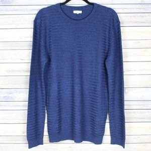 Reiss Tucan Wool Linen Striped Pullover Sweater XL